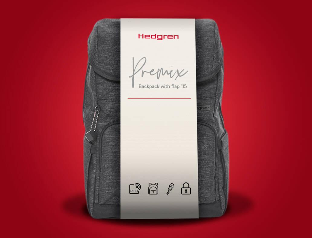Hedgren packaging mockup